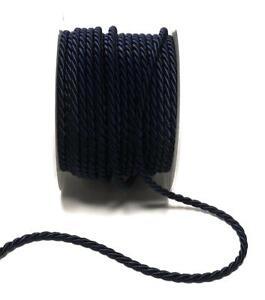 1m/0,40€) KORDEL 15m x 4mm DUNKELBLAU Dekoband KORDELBAND Schleifenband Schnur