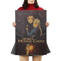 Howl Moving Castle Hayao Miyazaki Kraft Paper Wall Decor Poster 51*36cm/20*14 in