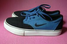 Nike Boys Black & Blue Canvas Skateboarder Sneaker Lace up Youth Kids sz4 Shoes