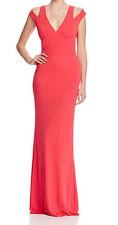 ABS by Allen Schwartz New Cutout Shoulder V-Neck Gown Size L #2A 11 (d)