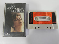 MINA LO MEJOR DE CASSETTE CINTA TAPE SPAIN EDIT 1972 RIFI BC 3191 PAPER LABELS