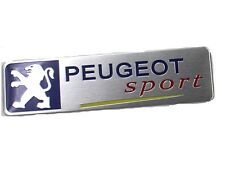 PEUGEOT 3D ABS Emblems Badge Stickers Sport Aluminum Emblem Badge Yellow Line UK