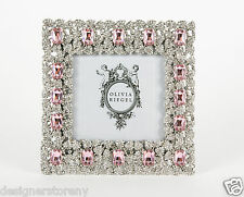 Olivia Riegel Rose Genevieve Picture Photo Frame Swarovski® crystals 4 x 4""