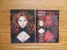 1998 COMIC IMAGES CRIMSON EMBRACE VAMPIRES PROMO CARD