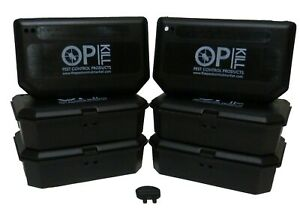 Opkill Mouse Bait Boxes  strong plastic for Safe Use With Rodent Bait Poison