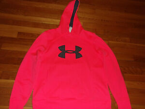 UNDER ARMOUR COLDGEAR LOOSE PEACH HOODIE WOMENS XL EXCELLENT CONDITION