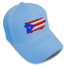 Dad Hats for Men Puerto Rico Map Flag Embroidery Women Baseball Caps Acrylic