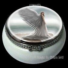 *SPIRIT GUIDE* Fantasy Angel Art Mini Ceramic Trinket Box By Anne Stokes (5.5cm)