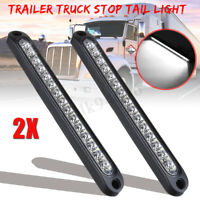 2X LED Trailer Truck Caravan UTE Stop Brake Tail Reverse Light Ultra-Slim White