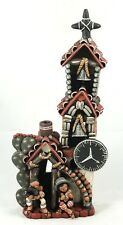 Ceramic Church Ecuador South America Hand Made/Painted Pottery Collectible Tall