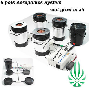 Advanced Hydroponic Aeroponic System 5 Pots New Tech Plant Growing Method