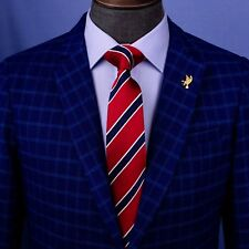 Red & Blue Sexy Formal Business Striped 3 Inch Tie Mens Professional Fashion
