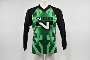 Verge V-Gear Kids Large Youth BMX Long Sleeve Cycling Jersey V Neck Green/White