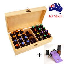 AU 25 Slot Essential Oil Bottle Wooden Storage Box Wood Aromatherapy Organizer