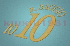 Italy Baggio #10 2003-2004 Homekit Nameset Printing