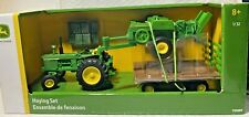 Metal John Deere Tractor Haying Set LP68178 TOMY Licensed 1/32 Scale Die-Cast