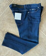 Hugo Boss Black Delaware Jeans 40 32 Slim Fit Dark Double Stretch Denim NWT $198
