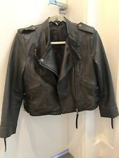 Topshop Real Leather Jacket, 10