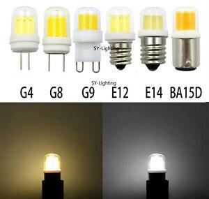 5~10pcs 4W G4 G8 G9 E12 E14 BA15D COB1511 LED 110V/220V Light Bulb Lamp Lighting