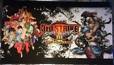 """Street Fighter Third (3rd) Strike Dynamo Big Blue Arcade Marquee-27""""x15.5"""""""