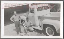 Vintage Photo Men & 1954 Ford F100 Pickup Truck 768020