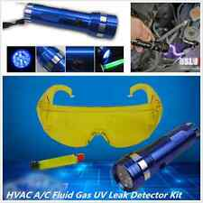 A/C Fluid Gas Leak Detector & Safety Glasses 14 LED UV Flash Light Auto Tool Kit