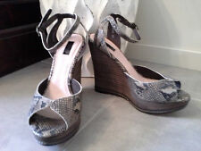 "As New RMK sz 39 ""Agnes"" Genuine Leather Python Print Wedges"