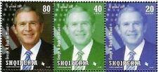 Albania Stamps 2007. USA President George W. Bush in Tirana. Set MNH