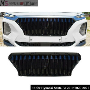 Fits for Hyundai Santa Fe 2019 2020 Front Grille Mesh Grill Bar Vent Trim