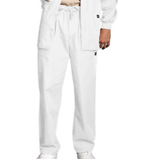 {2XL} Cherokee Workwear Men's Drawstring Cargo Scrub Pant White 4000TALL