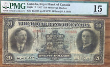 1927 $20 Royal Bank of Canada Pmg 15 Choice Fine Large Banknote
