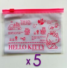 Hello Kitty Resealable Transparent Polythene Ziplock Toiletries/Liquids Bags