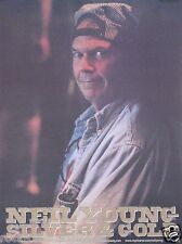 Neil Young 2000 Silver & Gold Original Promo Poster