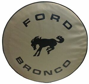 """SpareCover® ABC Series - FORD BRONCO 33"""" TAN Heavy Duty Vinyl Tire Cover"""