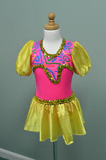 Dansco Dance Costume Child Medium Yellow Pink Gold
