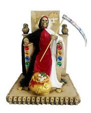 "New listing 12"" La Santa Muerte Statue Holy Death Grim Reaper Red Black White"