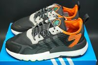 adidas Nite Jogger Cordura Reflective Black Orange Trainers Sneakers Shoes OG DS