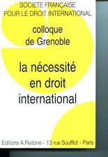 La nécessité en droit international