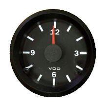 "Clock gauge, VDO Genuine Cockpit 370-155, 2-1/16""/52mm, 12/24V dual system"