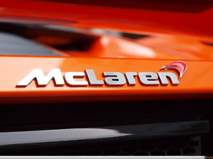 McLaren Rear badge with red logo 1211f1064cp