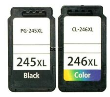 2 PACK PG245 CL246 XL Black Color Ink For Canon PIXMA MG2920 MG2922 MG2924 MX492