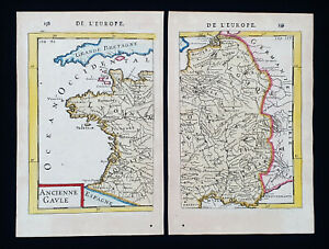 1683 A.M. MALLET: FRANCE, WEST & EAST MAP, BRITTANY, PROVENCE, NORMANDY, PARIS..