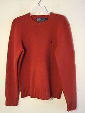 Polo by Ralph Lauren men's burnt orange wool sweater pull over size medium nice