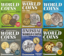 KRAUSE STANDARD CATALOG OF WORLD COINS 5 CATALOGUES 1601-2017 + BONUS ON DVD