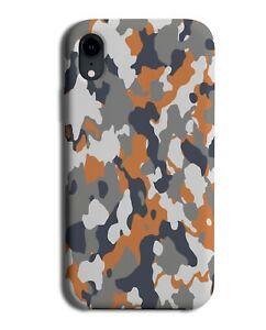 Rock Coloured Camo Print Phone Case Cover Camouflage Orange Grey Colour M687