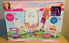 Barbie NAP 'N' PLAY NURSERY PLAYSET New in Box