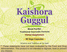 Kaishore Guggulu (Blood Purifier & healthy skin) 90 Vege Capsules, 1 gm each