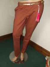 Cotton Mid Rise 32L Trousers Chinos for Women