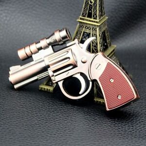 Windproof Gas Lighter Metal With Laser Pointer Non Refillable  Random Color