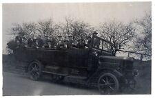 Vintage Original Postcard - Group Of Men In Motor Car